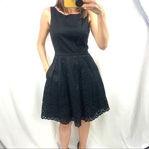White House bm black cotton eyelet dress 2 xs